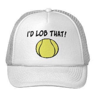 Volearía esa pelota de tenis desde muy alto gorro de camionero