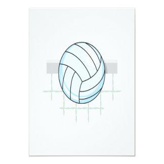"""Voleibol 11 invitación 5"""" x 7"""""""