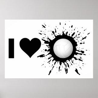Voleibol 1 del amor del explosivo I Póster