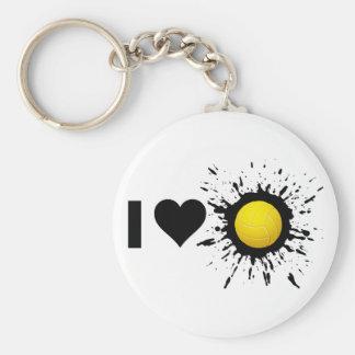 Voleibol 2 del amor del explosivo I Llavero Redondo Tipo Pin