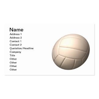 Voleibol 2 tarjetas de visita
