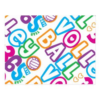 Voleibol 365 días al año tarjetas postales