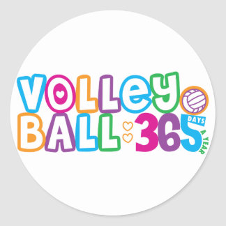 Voleibol 365 pegatina redonda