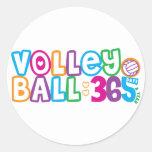 Voleibol 365 pegatinas redondas