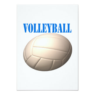 """Voleibol 4 invitación 5"""" x 7"""""""