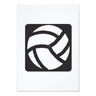 """Voleibol 6 invitación 5"""" x 7"""""""