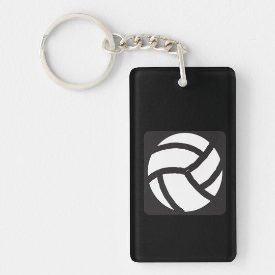 Voleibol 6 llavero rectangular acrílico a doble cara