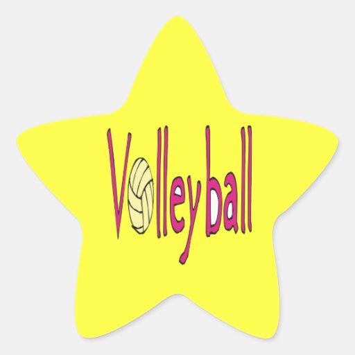 Voleibol 9 pegatinas forma de estrellaes personalizadas