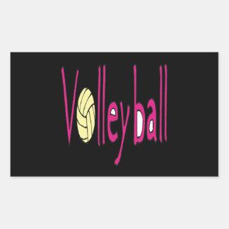 Voleibol 9 pegatina rectangular