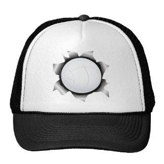 voleibol a través de la hoja de metal gorras