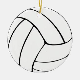 Voleibol Adorno Navideño Redondo De Cerámica