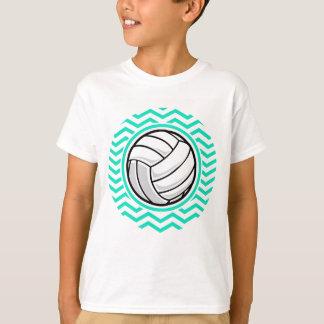 Voleibol; Aguamarina Chevron verde Playera