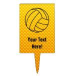 Voleibol amarillo-naranja figura de tarta