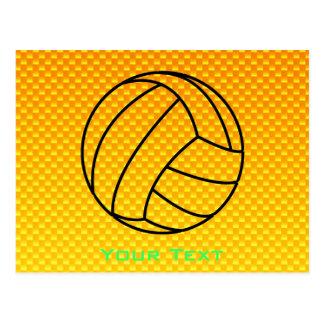 Voleibol amarillo-naranja postal