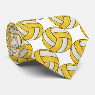 Voleibol amarillo y blanco deportivo corbata