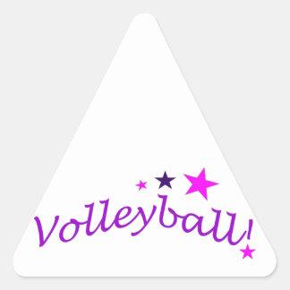 Voleibol arqueado con las estrellas pegatina triangular