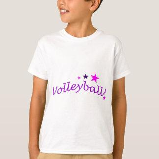Voleibol arqueado con las estrellas playera