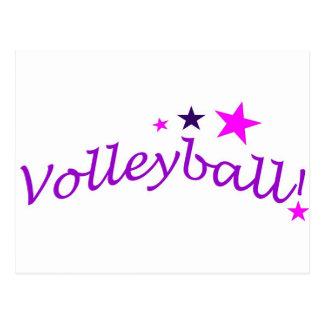 Voleibol arqueado con las estrellas tarjeta postal