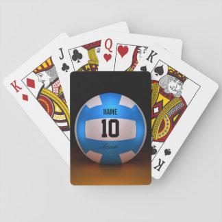 Voleibol azul barajas de cartas
