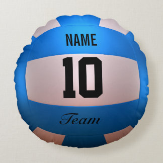 Voleibol azul cojín redondo
