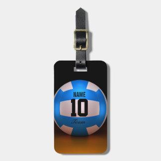 Voleibol azul etiquetas para maletas