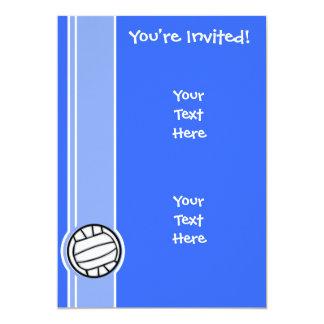 """Voleibol; Azul Invitación 5"""" X 7"""""""