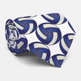 Voleibol azul marino y blanco deportivo corbatas