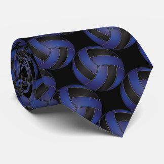 Voleibol azul marino y negro deportivo corbatas personalizadas