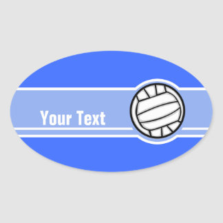 Voleibol; Azul Pegatina Ovalada