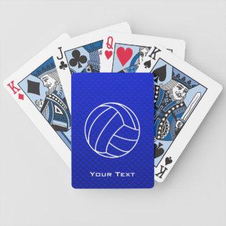 Voleibol azul profundo baraja de cartas