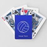 Voleibol azul profundo cartas de juego