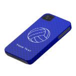 Voleibol azul profundo Case-Mate iPhone 4 funda