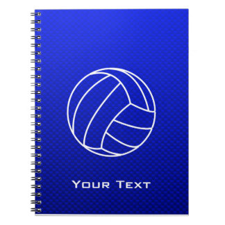 Voleibol azul profundo cuadernos