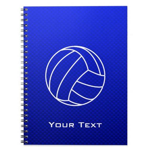 Voleibol azul profundo libretas espirales