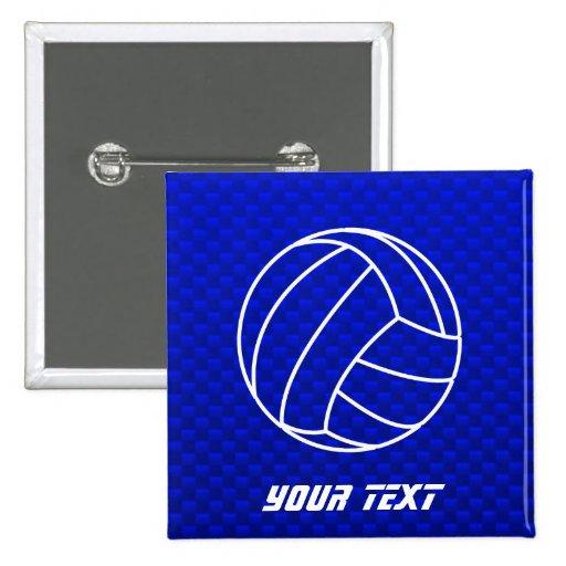Voleibol azul profundo pins