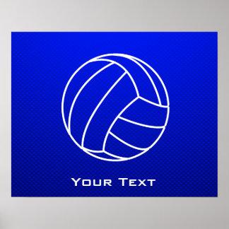 Voleibol azul profundo póster