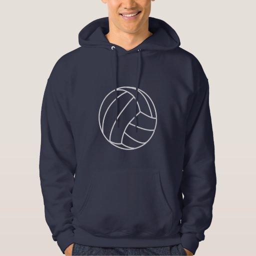 Voleibol azul profundo sudadera