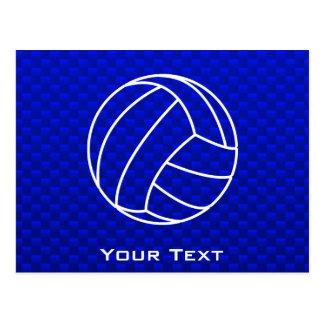 Voleibol azul profundo postal