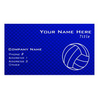 Voleibol azul profundo tarjetas de visita