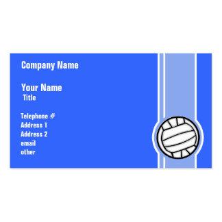 Voleibol; Azul Tarjetas De Visita