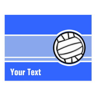 Voleibol; Azul Tarjetas Postales