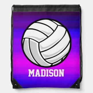 Voleibol; Azul violeta y magenta vibrantes Mochila