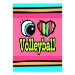 Voleibol brillante del amor del corazón I del ojo