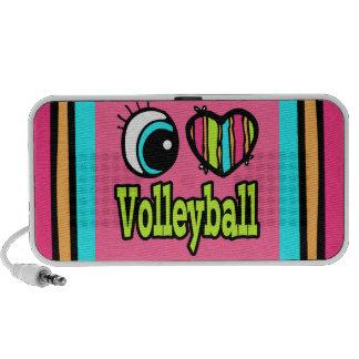 Voleibol brillante del amor del corazón I del ojo Altavoces