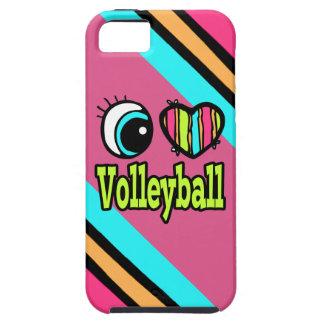 Voleibol brillante del amor del corazón I del ojo iPhone 5 Fundas
