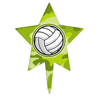 Voleibol; camo verde claro, camuflaje decoración para tarta