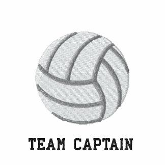 Voleibol - capitán del equipo sudadera bordada con capucha