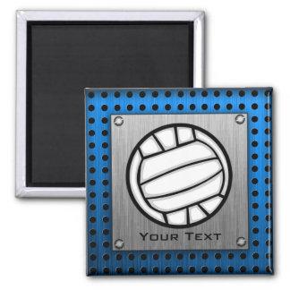 Voleibol cepillado de la mirada del metal imán cuadrado