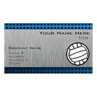 Voleibol cepillado de la mirada del metal tarjetas de visita