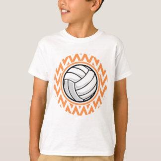 Voleibol; Chevron anaranjado y blanco Playera